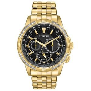 Citizen Calendrier Diamond Gold Tone NWT